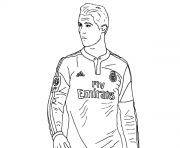 cristiano ronaldo real madrid espagne equipe de foot dessin à colorier