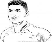 cristiano ronaldo portugal football dessin à colorier