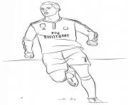 ronaldo 7 real madrid cristiano meilleur joueur de foot dessin à colorier