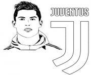 ronaldo uefa champions league fc juventus dessin à colorier