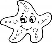 etoile de mer maternelle grande section dessin à colorier