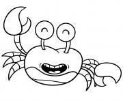 crabe amusant rigolo dessin à colorier