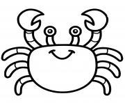 crabe facile maternelle dessin à colorier