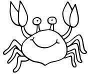 crabe avec un sourire dessin à colorier