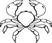crabe bleu dessin à colorier
