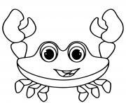crabe joyeux maternelle dessin à colorier