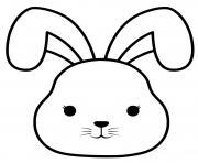 Coloriage lapin de paques avec des oeufs de paques pour peinturer dessin