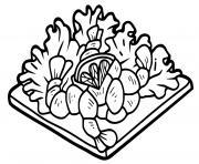 salade de crevette dessin à colorier