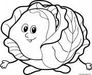 salade legume laitues dessin à colorier