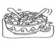 bol de salade et legumes dessin à colorier