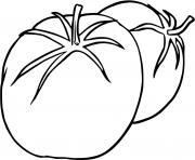 la tomate est un fruit dessin à colorier