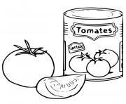 canne de tomate broye dessin à colorier