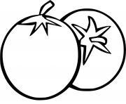 deux tomates fraiches dessin à colorier