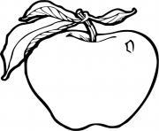 pomme fruit realiste dessin à colorier