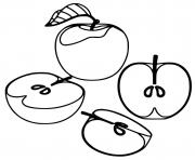 pomme rouge delicieuse dessin à colorier