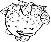 fraise dessin anime kawaiishopkins dessin à colorier