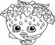 fraise dessin kawaii de shopkins dessin à colorier