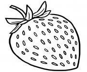fraise fruit rouge issu des fraisiers dessin à colorier