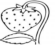 fraisier avec une fraise dessin à colorier