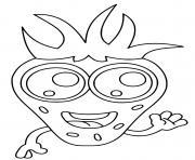 fruit fraise kawaii avec des yeux et sourire dessin à colorier