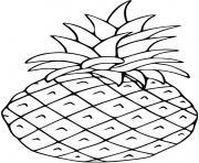 ananas fruit avec dessin en couleur dessin à colorier