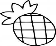 ananas facile maternelle dessin à colorier