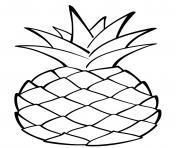 ananas fruit exotiqque dessin à colorier