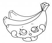 banane de shopkins dessin à colorier