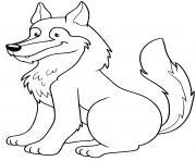 loup europeens animal solitaire et chef de meute dessin à colorier