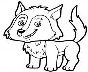 loup famille du chien maternelle facile dessin à colorier