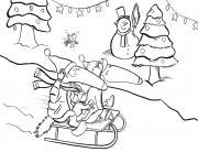 loup auzou noel activite hiver dessin à colorier