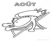 loup mois aout dessin à colorier