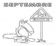 loup mois septembre dessin à colorier