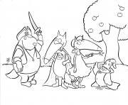 petit loup auzou halloween dessin à colorier