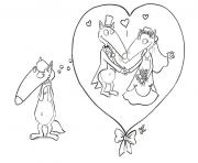 loup auzou la saint valentin dessin à colorier