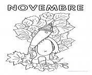 loup mois novembre dessin à colorier