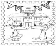 loup auzou vive la rentree scolaire ecole dessin à colorier