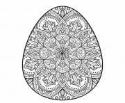 oeuf de paques mandala adulte dessin à colorier
