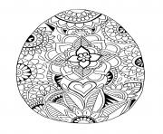 oeuf de paques mandala motifs de fleurs dessin à colorier