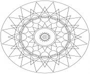 mandala oeuf de paques et soleil par Lena London dessin à colorier