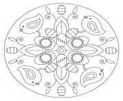 paques mandala oeufs poussins par Lena London dessin à colorier