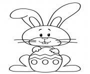 lapin de paques facile dessin à colorier