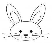 lapin facile paques maternelle dessin à colorier