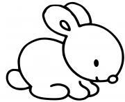 petit lapin maternelle paques facile dessin à colorier