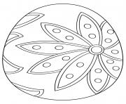 facile fleur oeuf de paques dessin à colorier