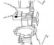 minecraft poulet dessin à colorier