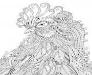 anti stress animaux poule dessin à colorier