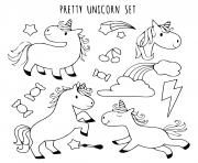coloriage licorne collection
