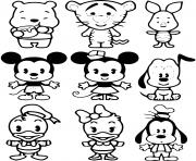 Coloriage disney kawaii personnages bebes