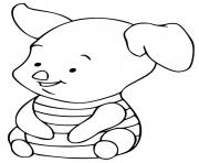 porcinet petit cochon de disney dessin à colorier